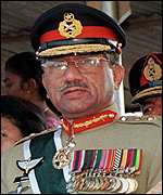 Chief of Army Staff, Chairman Joint Chiefs of Staff Committee and Chief Executive of Pakistan.  General Pervez Musharraf