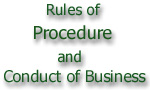 Rules of Procedure in the N. A.